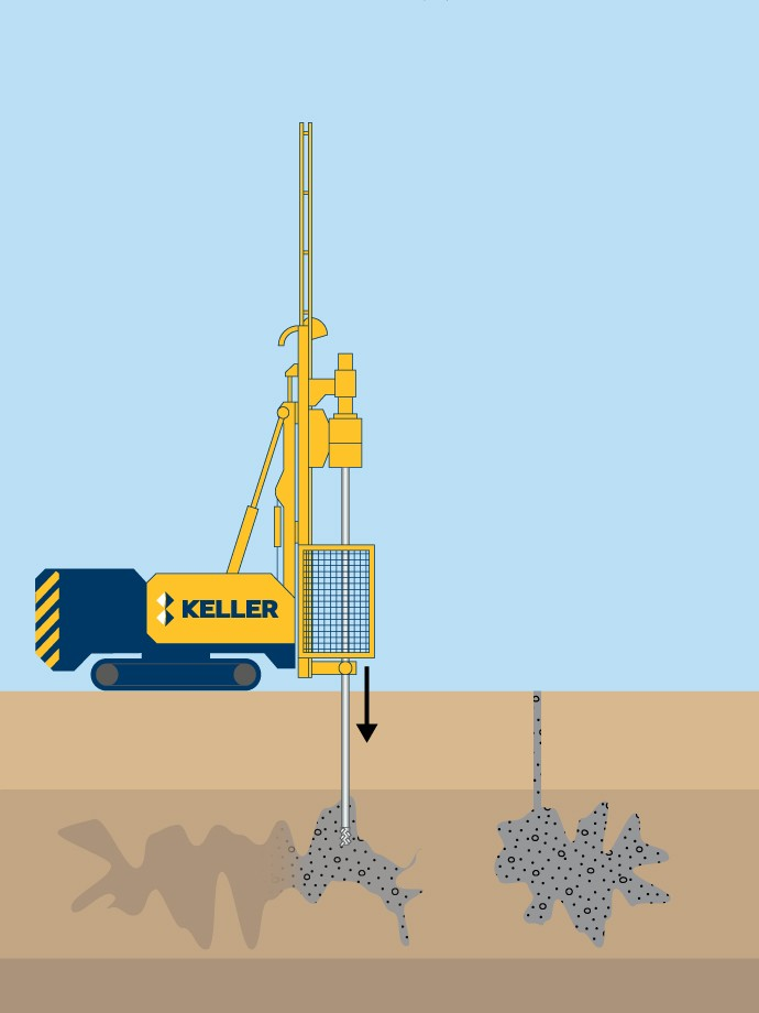 Cavity bulk mine fill grouting illustration