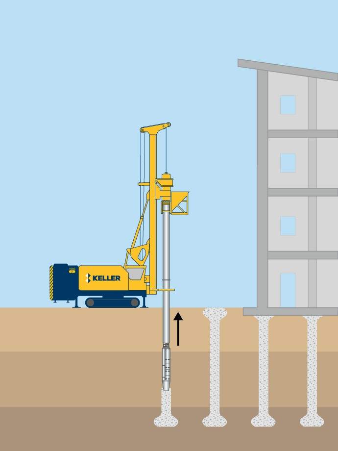 Vibro concrete columns illustration
